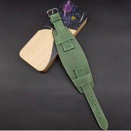 Ремешок с базой для наручных часов. Натуральная кожа. Производитель Remenmaster 20 мм M205-20