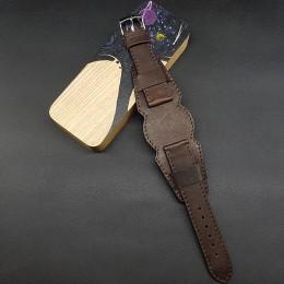 Ремешок с базой для наручных часов. Натуральная кожа. Производитель Remenmaster 20 мм M208-20