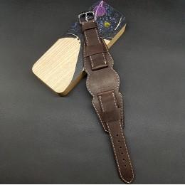 Ремешок с базой для наручных часов. Натуральная кожа. Производитель Remenmaster 20 мм M209-20