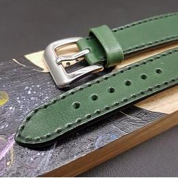 Кожаный ремешок RemenMaster зеленого цвета для часов 20 мм M234-20