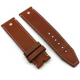 Кожаный ремешок ручной работы для часов 24 мм M002-24