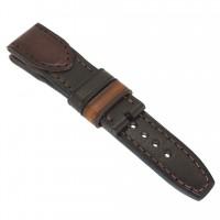 Авторский кожаный ремешок ручной работы для часов 22 мм M093-22