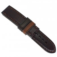 Качественный кожаный ремешок ручной работы для часов 22 мм M096-22
