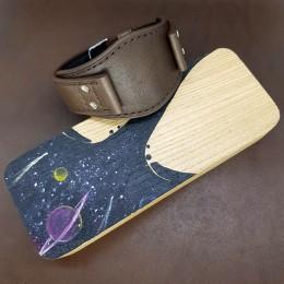 Авторский кожаный ремешок ручной работы для часов FOSSIL 22 мм M175-22