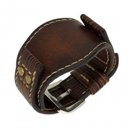 Авторский кожаный ремешок ручной работы для часов FOSSIL 22 мм M087-22