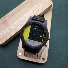 """Наручные часы """"Комната"""". Мореный дуб + натуральная кожа. Футляр в комплекте. Арт. K021"""
