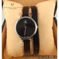 Часы с двойным ремнем Calvin Klein CWD005