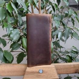 Длинный кожаный кошелёк Heliodore Арт.K3.8
