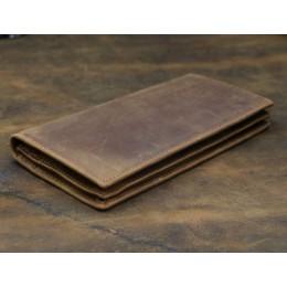 Длинный кожаный кошелёк Theodore коричневый Арт.K32