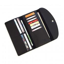 Длинный кожаный кошелёк Trifon чёрный Арт.K3.7