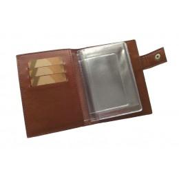 Портмоне для автодокументов, паспорта и денег коричневое С12