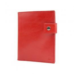 Портмоне для автодокументов, паспорта и денег красное С12