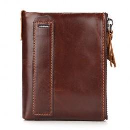 Раскладной кошелек кожаный SAKIS коричневый
