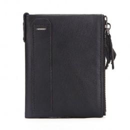 Раскладной кошелек кожаный SAKIS черный