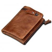 Раскладной кошелек кожаный YEROFEY песочный