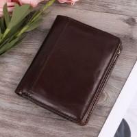 Раскладной кошелек кожаный AGAPIT коричневый