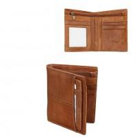 Раскладной кошелек кожаный CLEON песочный