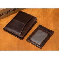 Раскладной кошелек кожаный CLEON темно-коричневый