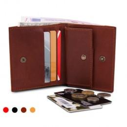 Раскладной кошелек кожаный COMPACT коричневый