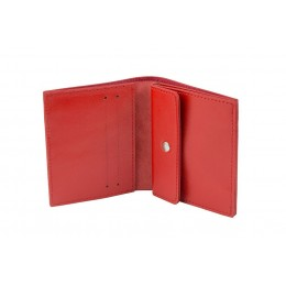 Раскладной кошелек кожаный COMPACT красный