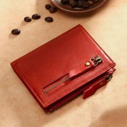 Раскладной кошелек кожаный HYPATIUS красный