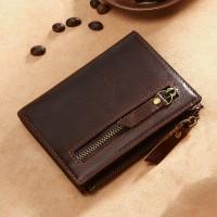 Раскладной кошелек кожаный HYPATIUS темно-коричневый