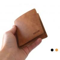 Раскладной кошелек кожаный LEANDER песочный