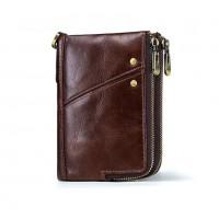 Раскладной кошелек кожаный LYCURGUS коричневый