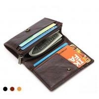 Раскладной мини-кошелек кожаный NEOCL (черный) (коричневый) (песочный)