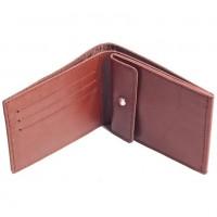 Раскладной кошелек кожаный Slim коричневый