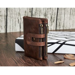 Раскладной кошелек кожаный HERACLIUS коричневый K24