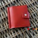 Зажим для денег кожаный MINI красный