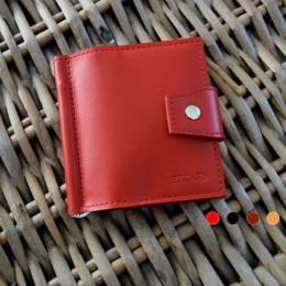 Зажим для денег кожаный MINI красный Арт. C17.4