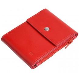 Зажим для денег кожаный DUO красный Арт. C17.2