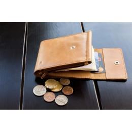 Зажим для денег кожаный DUO песочный Арт. C17.2