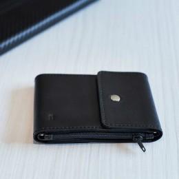 Зажим для денег кожаный DUO черный Арт. C17.2