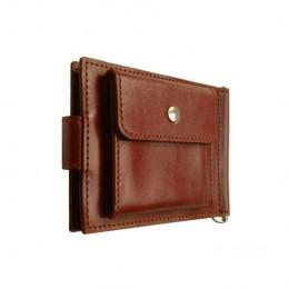 Зажим для денег кожаный Standart Pro коричневый Арт. C17.3