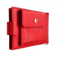 Зажим для денег кожаный Standart Pro красный