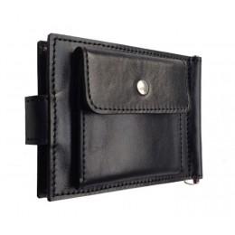 Зажим для денег кожаный Standart Pro черный Арт. C17.3