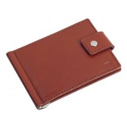 Зажим для денег кожаный Standart коричневый Арт. C17.1