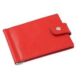 Зажим для денег кожаный Standart красный Арт. C17.1