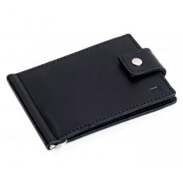 Зажим для денег кожаный Standart черный Арт. C17.1