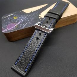 Авторский кожаный ремешок ручной работы для часов Luminor Panerai 24 мм M190-24